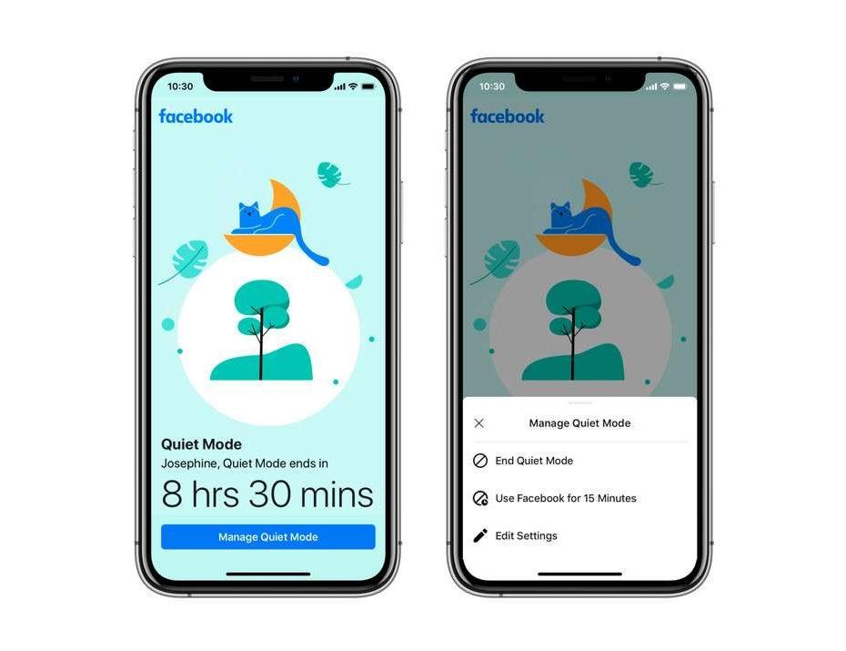 Facebook quiere que descanses de Facebook y lanza 'Quiet Mode', una función que apaga notificaciones y limita el tiempo en pantalla.